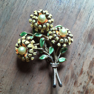 MCM Flower Power Costume Brooch 60s